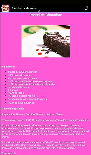 Amazon.com: Pasteles Recetas y Postres: Appstore for Android