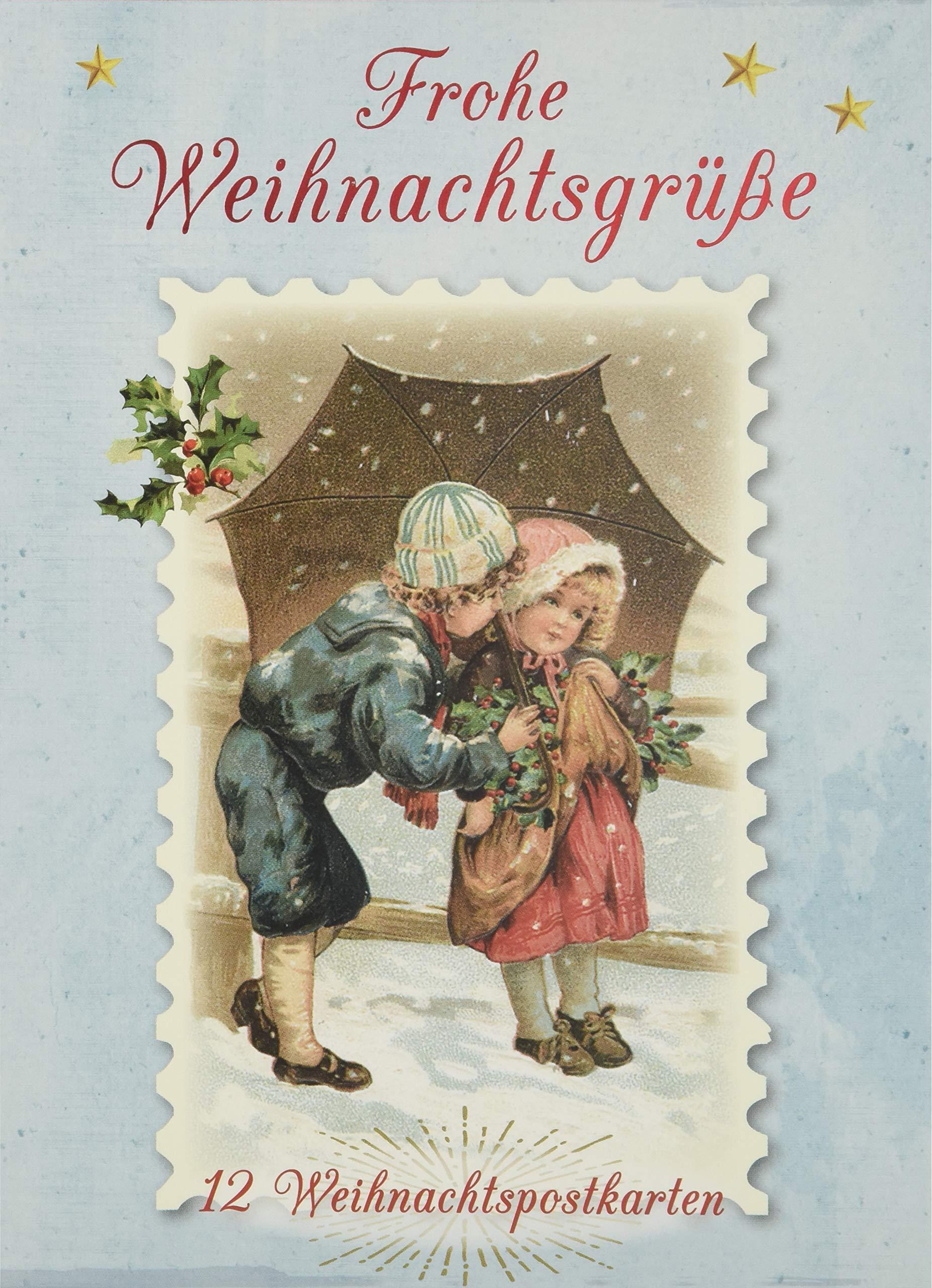 12 nostalgische Weihnachtskarten Weihnachtsgrüße