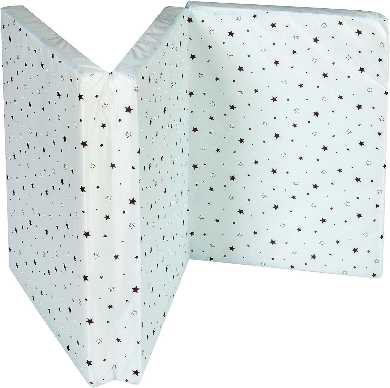 60 x 120 cm Colch/ón para cuna de viaje con motivos de estrellas de Schardt 09 605