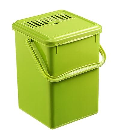 Rotho 1779905519 Komposteimer Bio mit Aktivkohlefilter, Plastik ...