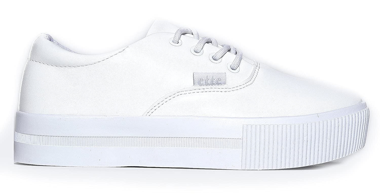Cute To The Core Womens Lace Up Vegan Leather Sneaker Comfy Cute Casual Walking Shoe Sugar