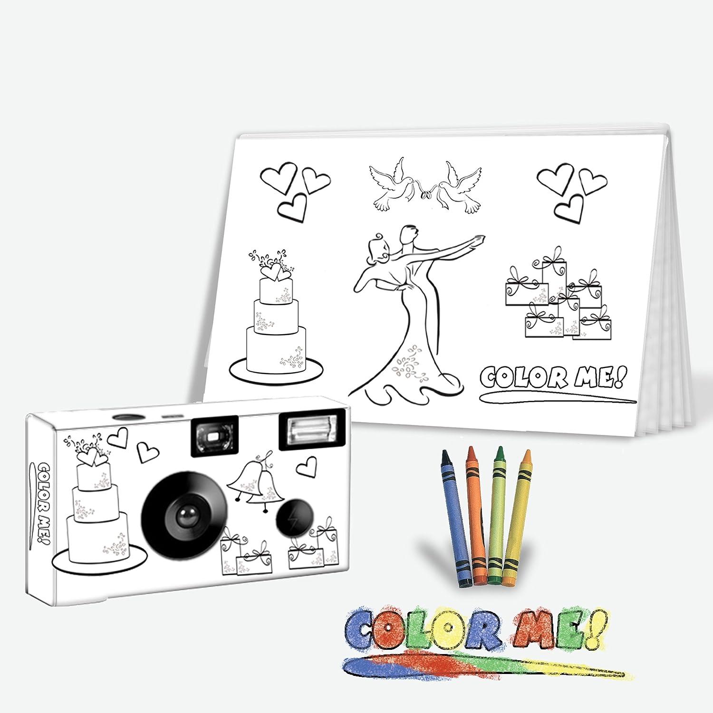 Durable Service 5 Pack Color My Cam Wedding Camera Photo Album Set