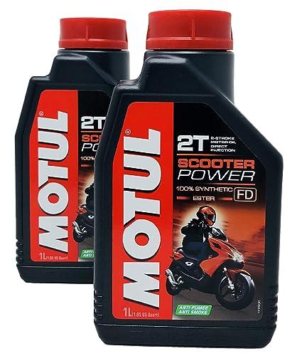 Aceite Mezcla Motul Scooter Power 2T 100% Sintético Ester, Pack 2 ...