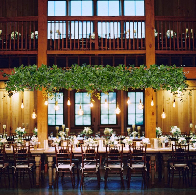 Lierre Artificielle Plantes Guirlande Vigne 84 Ft Exterieur Lierre Artificielle Guirlande D/écoration pour C/él/ébration Mariage Cuisine Jardin Bureau 12 Pcs