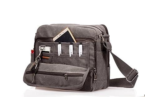 633b707af6c93 MeCool Borse a Tracolla di tela Borsello Uomo Vintage Viaggio Spalla  Sacchetto per Universit¨¤