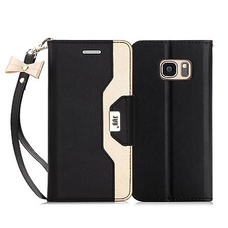 FYY Für Samsung Galaxy S7 Edge hüllen,für Samsung S7 Edge Hülle,PU Ledertasche Standfunktion Unterstützte Telefone mit Einem