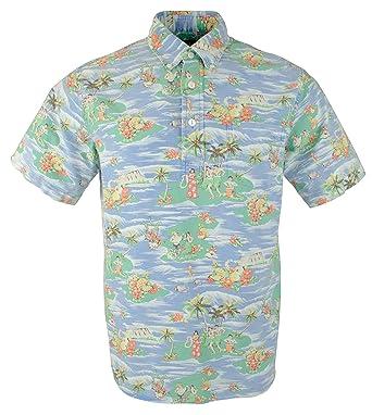 e20878db Polo Ralph Lauren Men's Hawaiian Print Short Sleeve Polo/Camp Shirt at  Amazon Men's Clothing store: