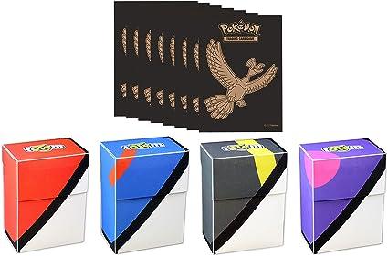 Totem World Pokeball Deck Box Avec 65 Pochettes Pokemon De Elite Trainer Box Pour Cartes Pokemon Amazon Fr Sports Et Loisirs