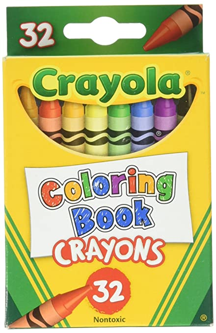 Amazon.com: Crayola 32-Count Coloring Book Crayons (52-0952): Office ...