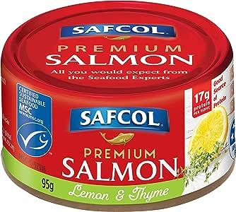 SAFCOL Premium Salmon Lemon and Thyme 95g Can x 12