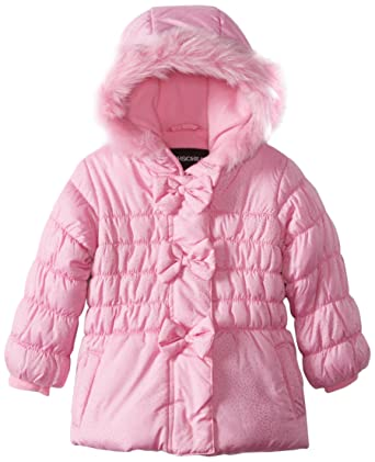 dc01424d1 Rothschild Baby Girls' Jacket with Multidot Sparkle and Bow Trim, Pink, 18  Months