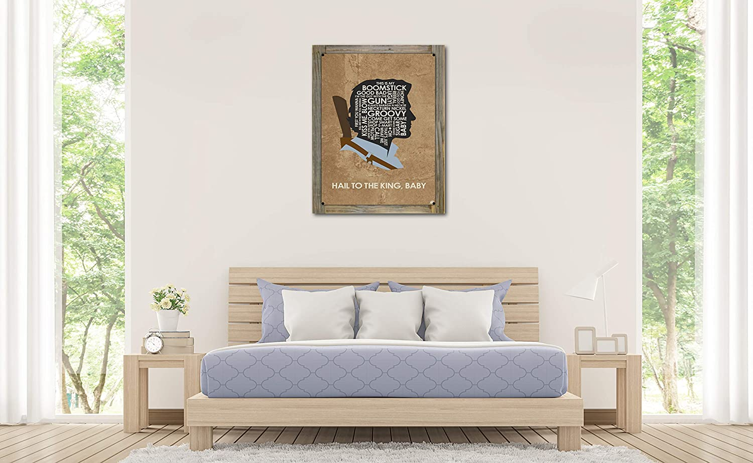 Amazon.com: Northwest Art Mall Ash - Hail to The King, Baby Metal Print on Reclaimed Barn Wood by Stephen Poon (18