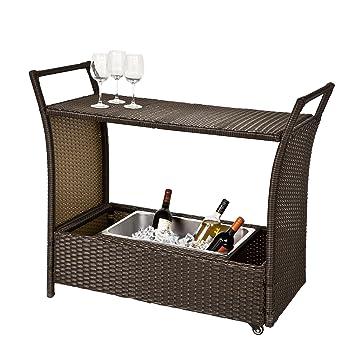 SoBuy® Carrito de Cocina, Mueble de jardín, Carrito de Servir, FKW48-BR, ES: Amazon.es: Hogar