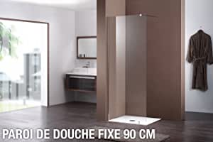 Mampara de ducha fija 90 cm: Amazon.es: Hogar