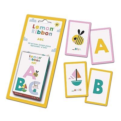Fournier- Lemon Ribbon ABC. Mi Primer Juego para Aprender a Leer. Baraja de Cartas Infantil Educativa, Color Multiple (1044177): Juguetes y juegos