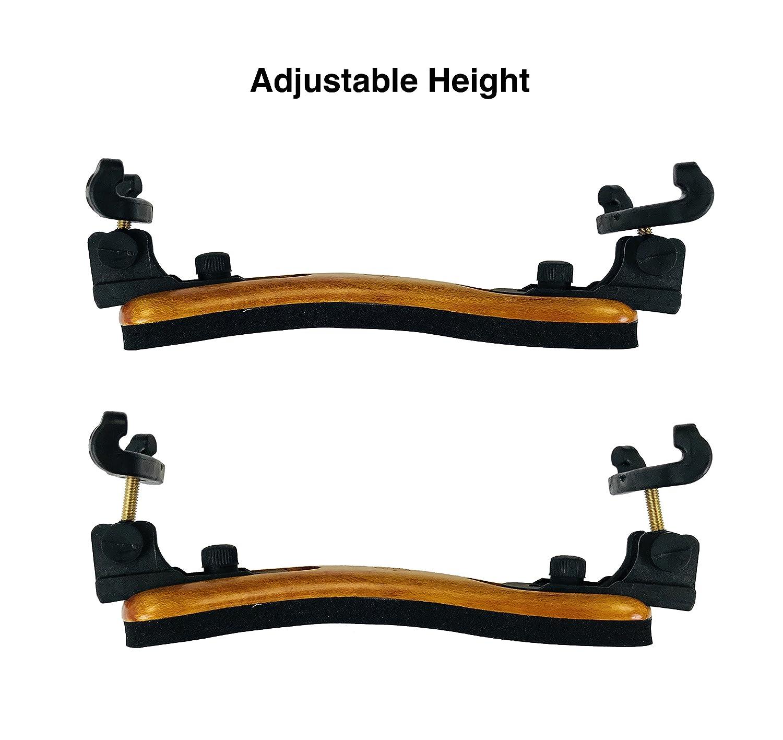 Round Adjustable Collapsible Viola 15-17 MI/&VI Viola Shoulder Rest Real Maple Wood Excellent Support Grip