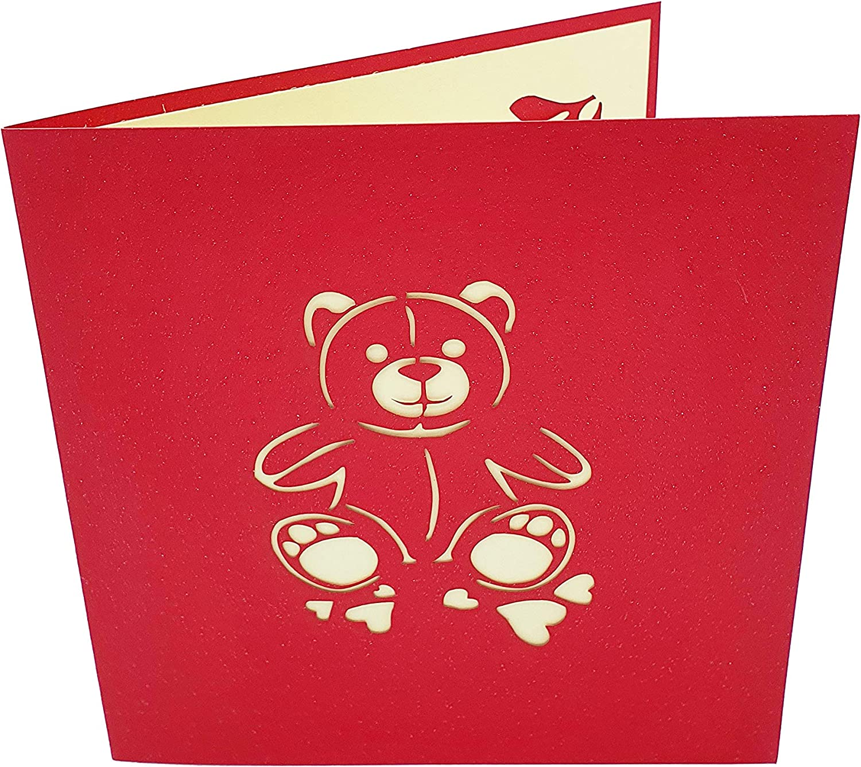Productos de papel para oficina novio hijo Postal 3D Oso con ...