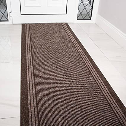 Amazon Com The Rug House Brown Rubber Backed Very Long Hallway Hall