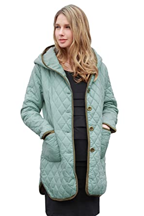 3c69d0f731096 Sweet Mommy Quilting Maternity and Babywearing Coat Water Repellant Blue, M