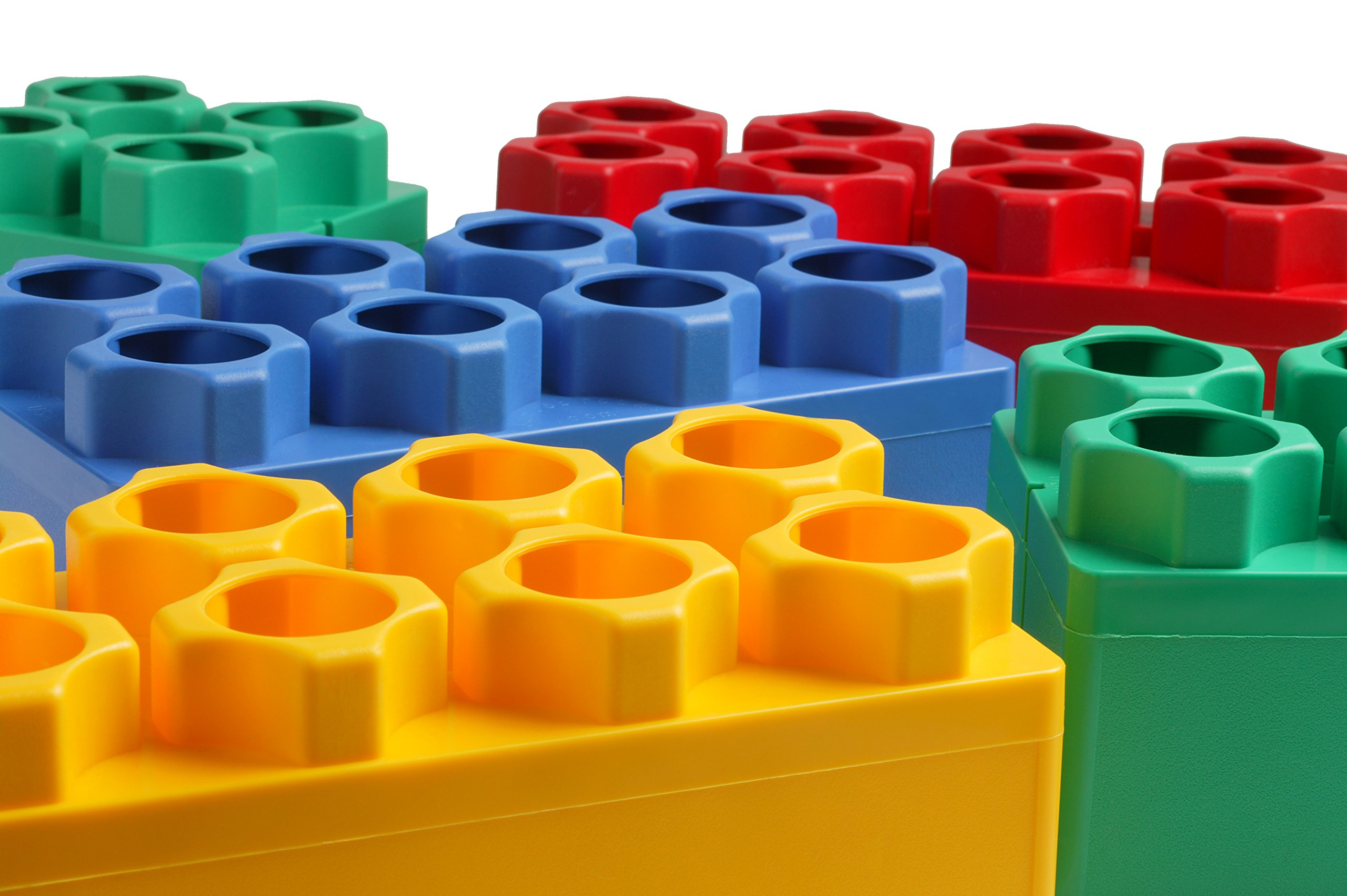 96pc Jumbo Blocks - Standard Set (Made in the USA) by Kids Adventure (Image #4)