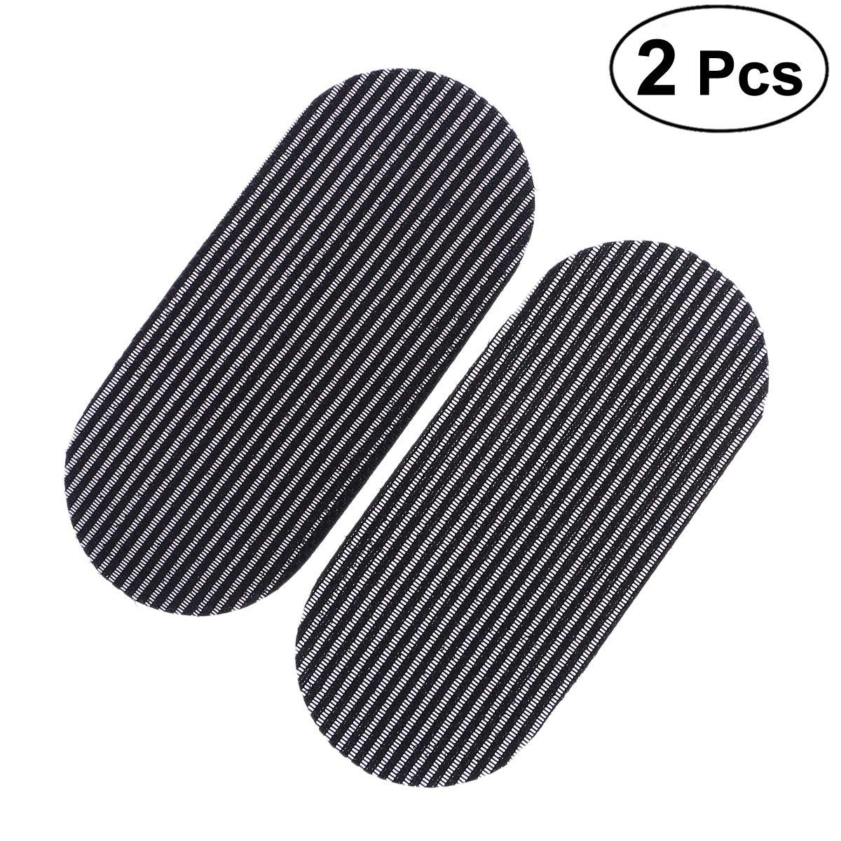 FRCOLOR 2Pcs Hair Gripers senza soluzione di continuità Barber capelli pinze per capelli Titolari di capelli Adesivi per capelli (nero)