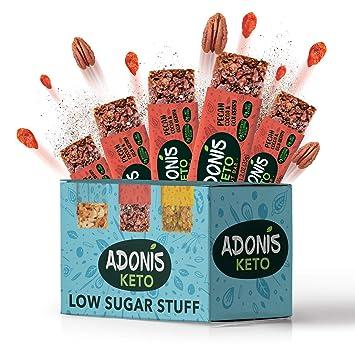 Adonis Low Sugar - Barritas de Pacanas Crujiente Sabor de Cocoa ...