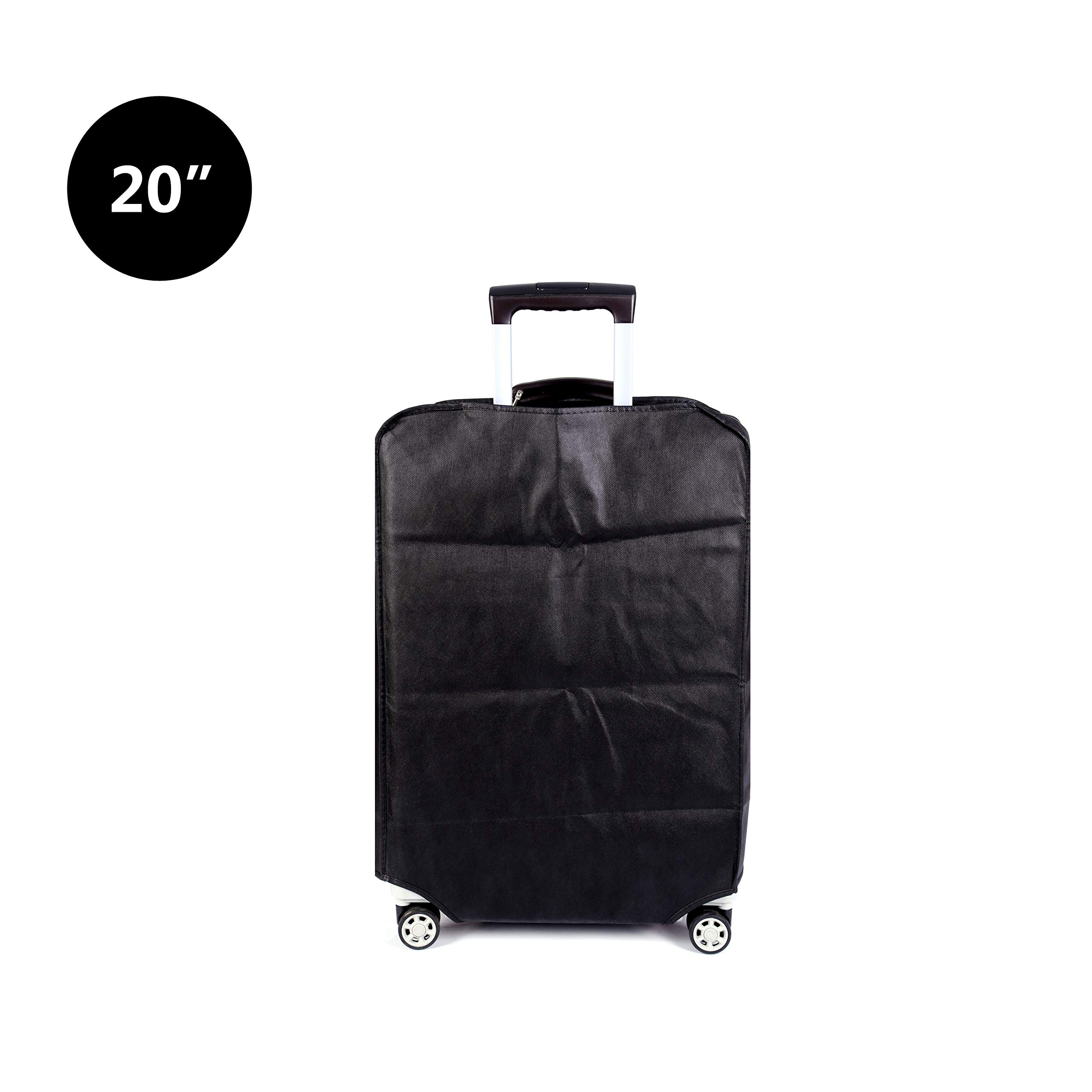 Travel Luggage Cover Luggage Protector Suitcase Cover Dust Cover,3 Colors,Fits 20 Inch,Black by CXGIAE (Image #3)