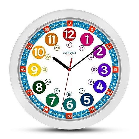 ONETIME Reloj de Pared Infantil (diámetro de) una Vez 30,5 cm Reloj de Pared Infantil ...