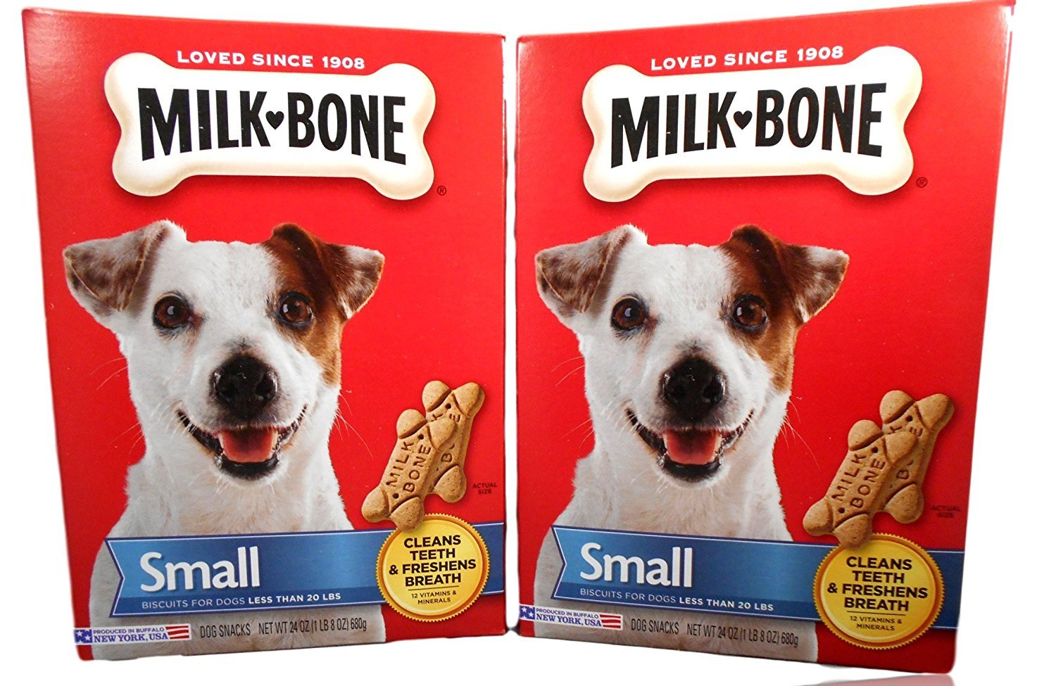 Milk-Bone 084282984616 Traditional Shaped Biscuits (Small) for Dogs, 24 Oz (2 Pack)