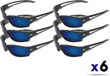 EDGE EYEWEAR TSKAP218 Kazbek Black Safety Glasses w// Polarized Aqua Blue Lens