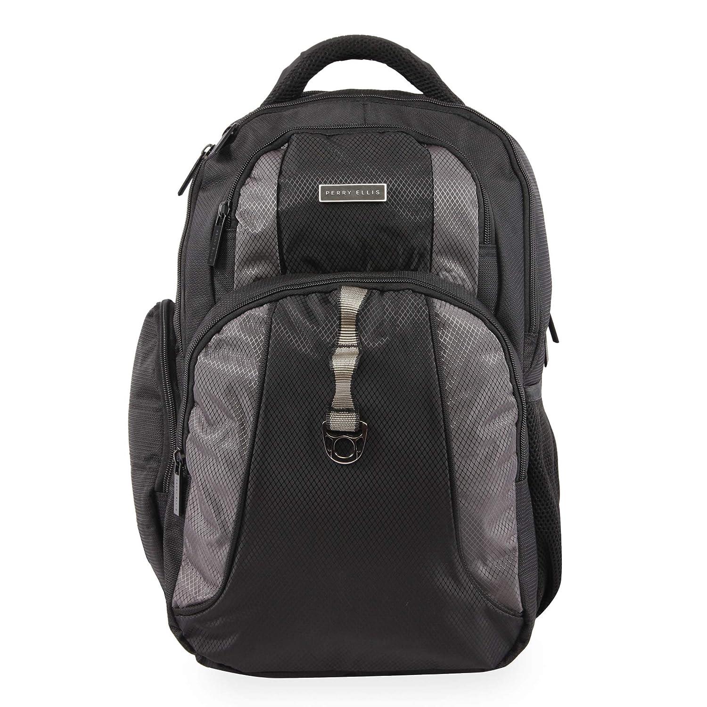 91ce95333de0 Amazon.com: Perry Ellis P14 Business Laptop Backpack, Black, One Size