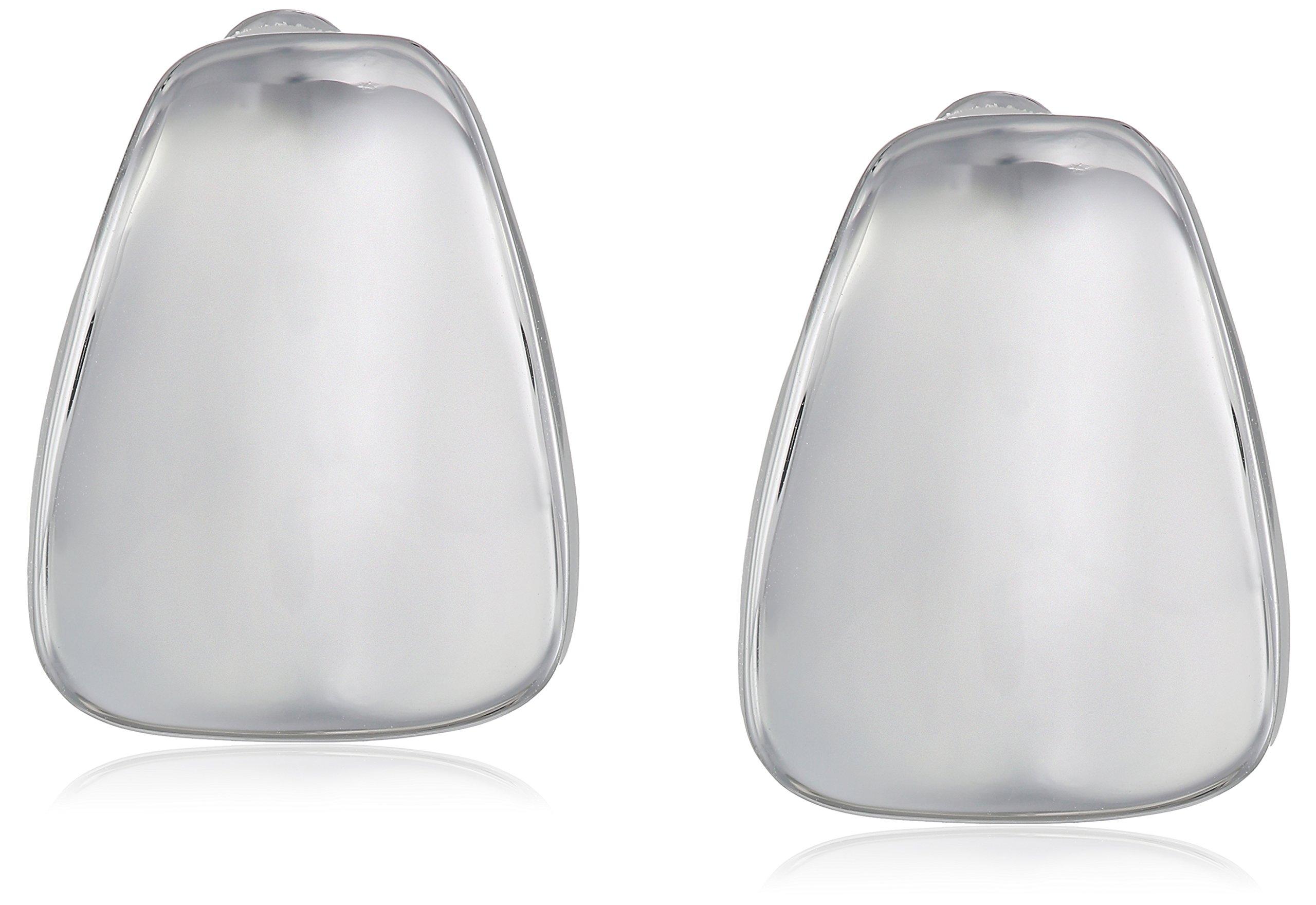Robert Lee Morris Soho Silver Wide Wedge Clip-On Earrings