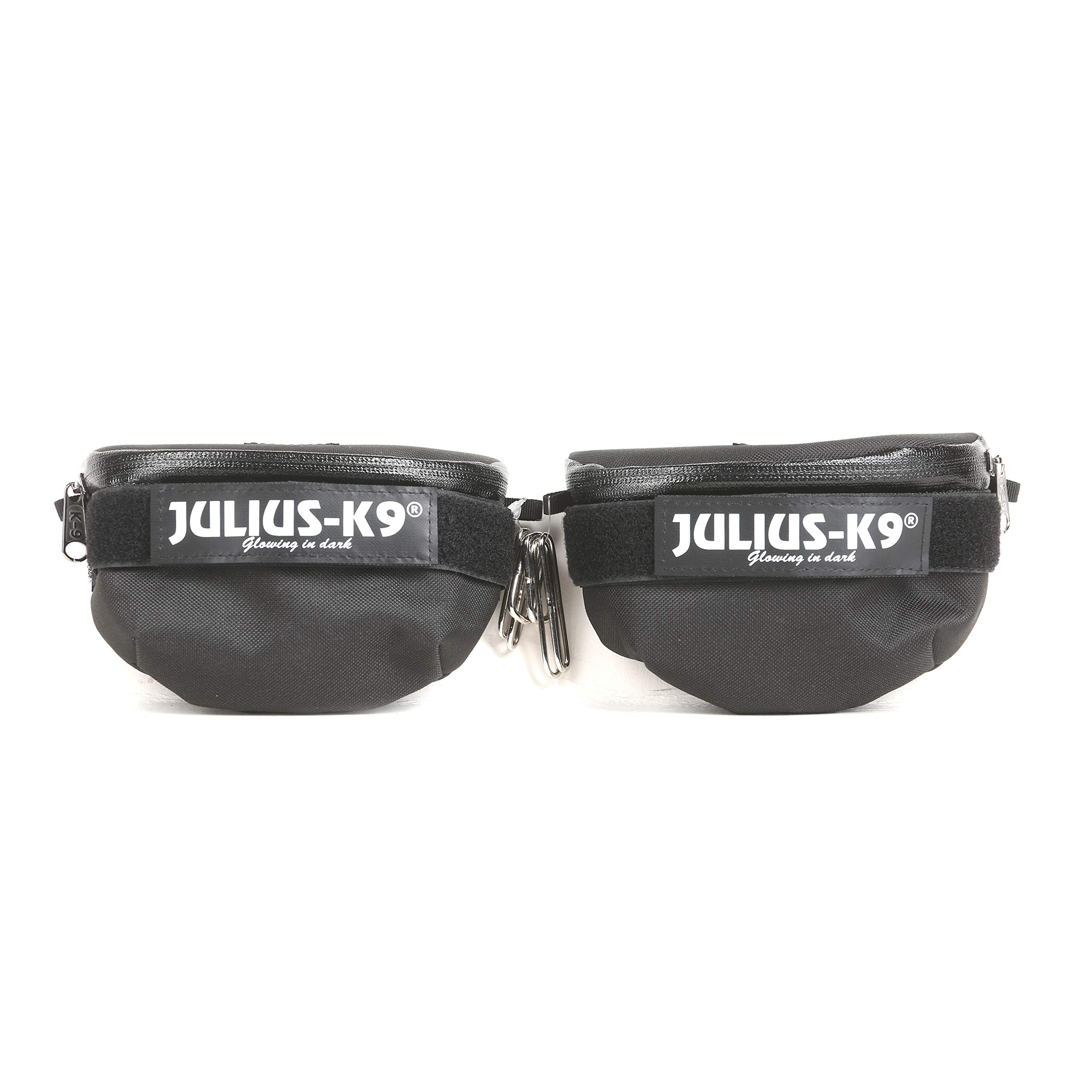 Julius-K9, IDC Universal Side Bags for Dogs, Harness Size: Baby 1 to Mini-Mini, Black