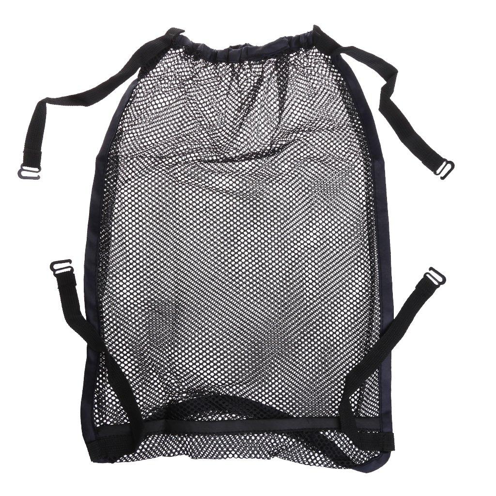 LANDUM Baby Trolley Bunch Net Pocket Infant Stroller Mesh Bottle Diaper Storage Organizer Bag Holder Black 35cmx50cm/13.78x19.69