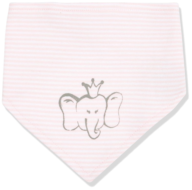 DIMO-TEX Girls' Baby Halstuch Bib BIO Baumwolle Neckerchief, Mehrfarbig (rosaweiß 6), One Size 171367
