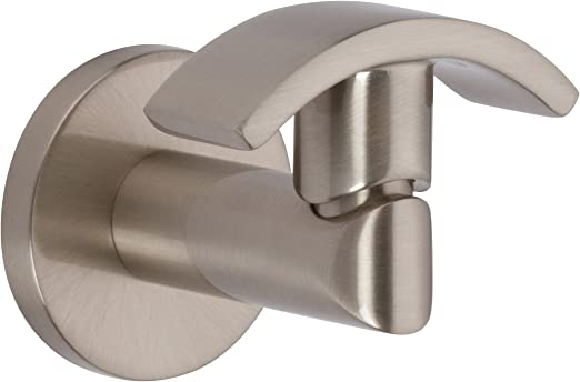 Ginger 0210H//PC Sine Collection Single Robe Hook in Polished Chrome Finish