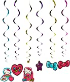 "Hello Kitty Rainbow Value Pack Foil Swirl Birthday Party Decoration (12 Pack), Multi Color, 10"" x 9.6""."