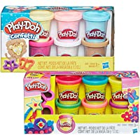Play-Doh Collections set of 2: Sparkle Compound Collection and Confetti Compound Collection