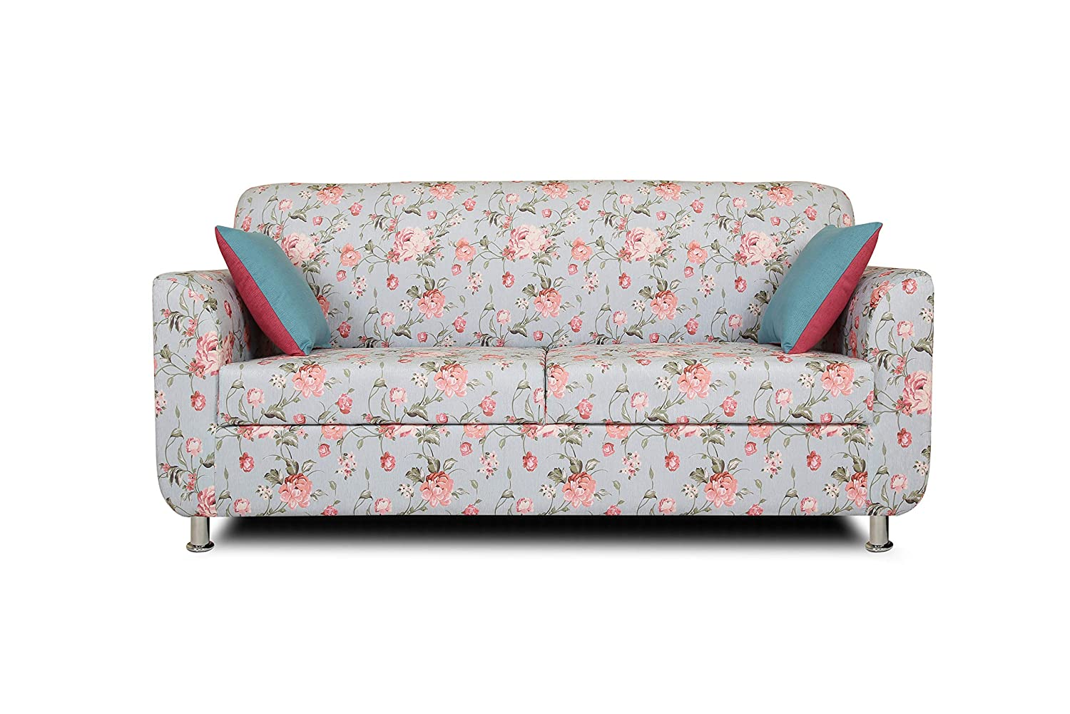 Adorn India Roselyn 2 Seater Sofa Digitel Print (Blue)
