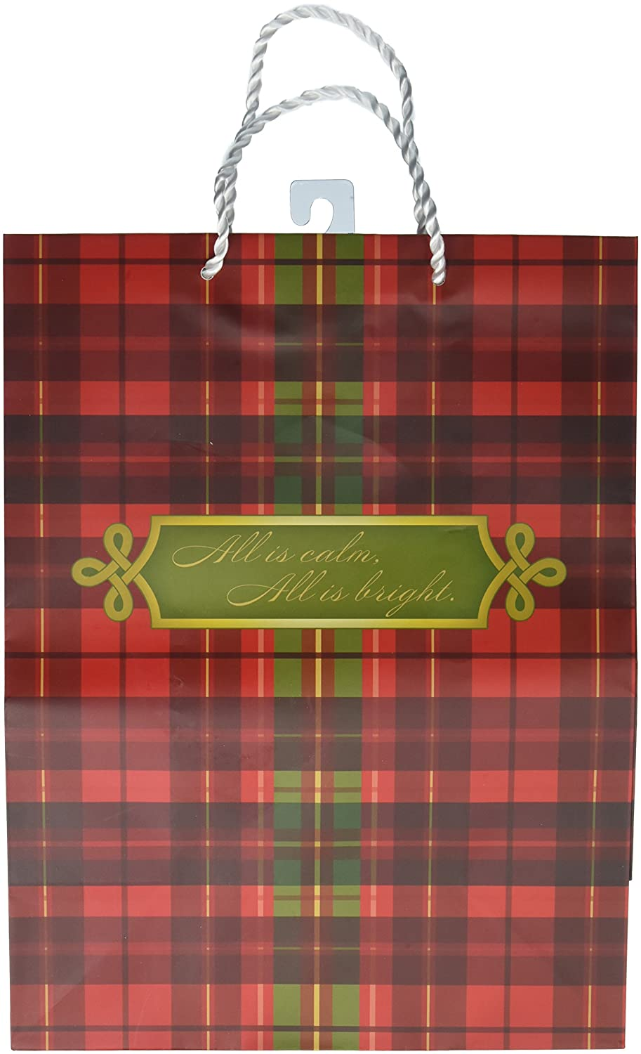 Large Value Gift Bag - Christmas - Red and Green Plaid DaySpring Company 11002