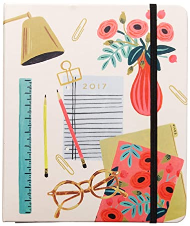 Rifle Paper 2017 17 Month Desktop Planner