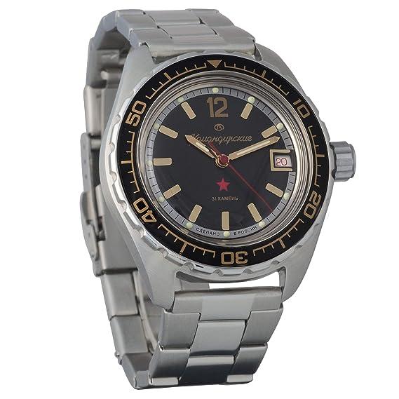Vostok Komandirskie 200 WR - Reloj de Pulsera mecánico automático para Hombre # 020741: Amazon.es: Relojes