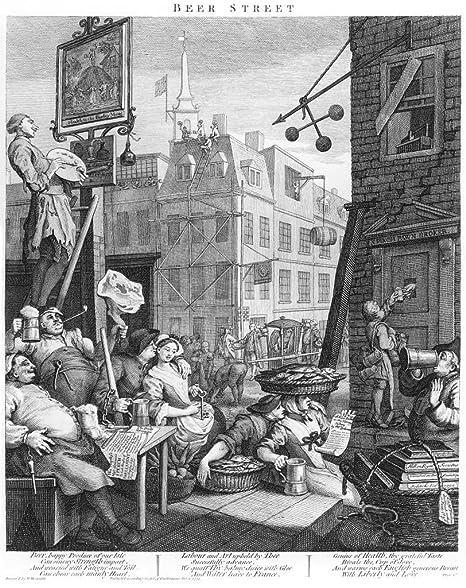 Fine Art Print//Poster Beer Street William Hogarth