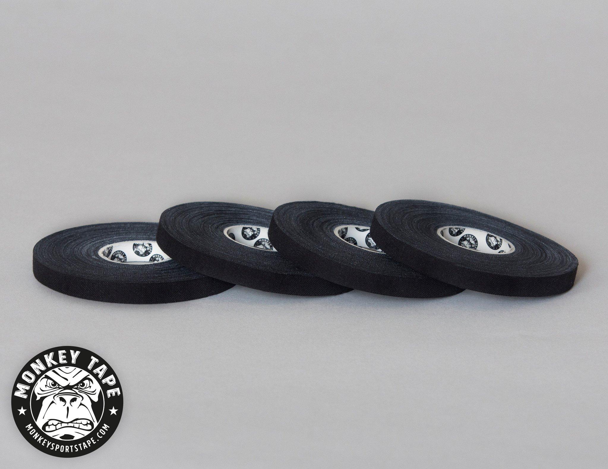 Monkey Tape® - 4 Rolls of 0.3 inch tape, 15 Yards in black