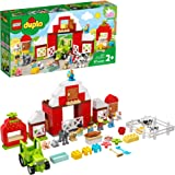 LEGO DUPLO Town Barn, Tractor & Farm Animal Care 10952 Playset with People Figures and Cute Pony, Pig, Dog, Sheep, Cow, Calf,