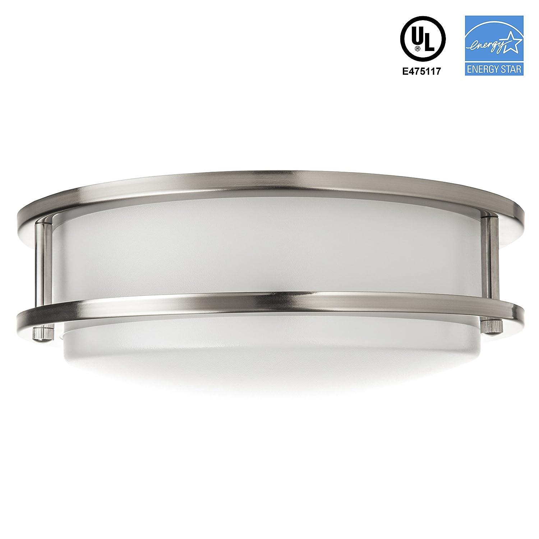 b ie UTF8&node flush mount kitchen lighting Hyperikon LED Flush Mount Ceiling Light 10 15W 65W equivalent lm K Daylight Glow Beam Angle V UL and