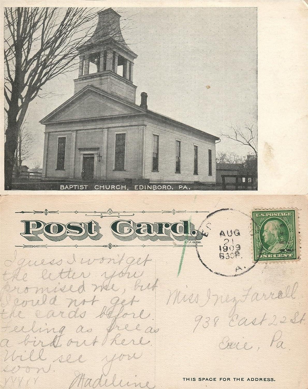 Amazon com : EDINBORO PA BAPTIST CHURCH 1909 ANTIQUE
