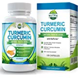 Turmeric Curcumin with Bioperine Extract, Powerful Anti-Inflammatory & Antioxidants with Superb Curcumin Absorption, Promotes Joint Health, Helps Reduce Pain & Inflammation - 120 Capsules