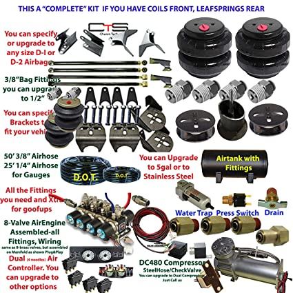 Amazon com: Chassis tech Air Suspension Kit-Complete F150