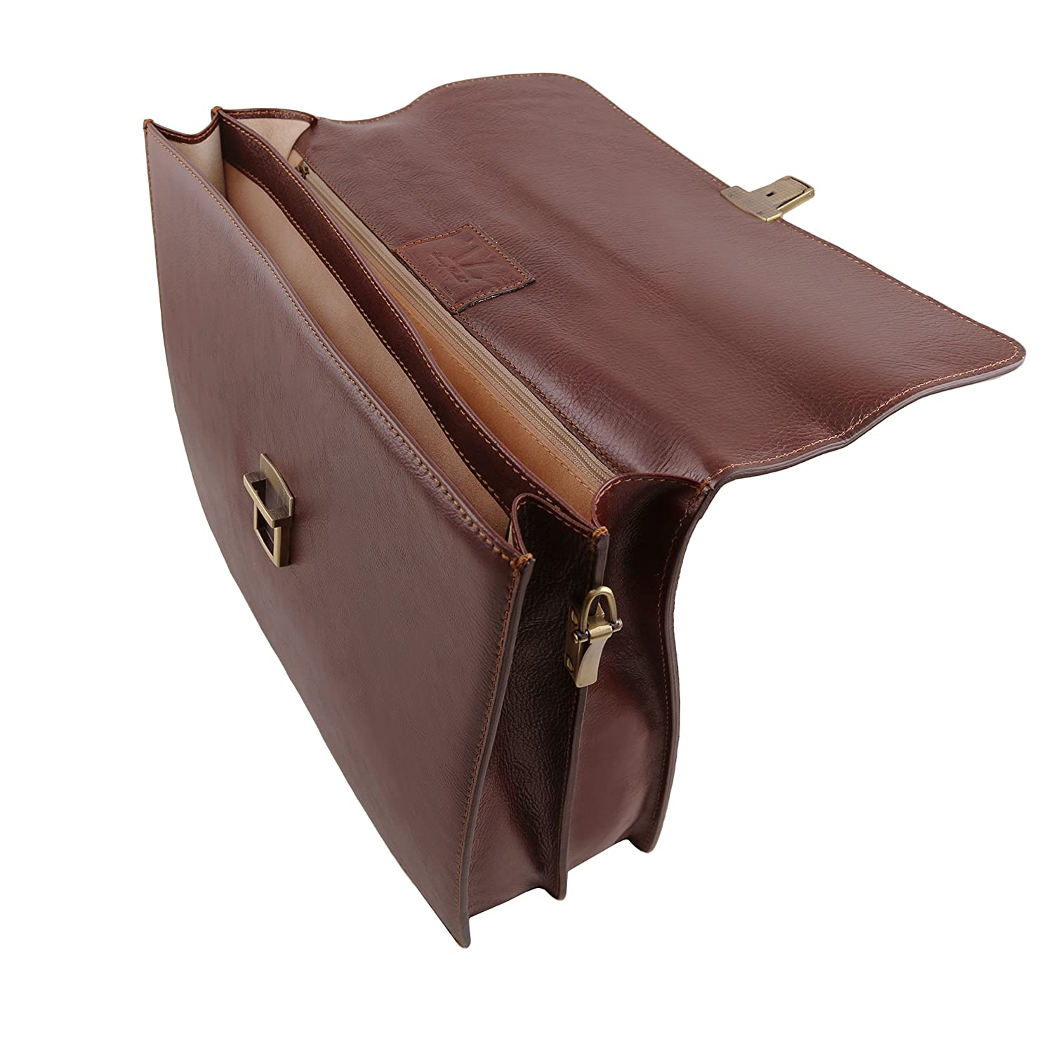 PARMA Tuscany Leather TL141350 Leather briefcase 2 compartments